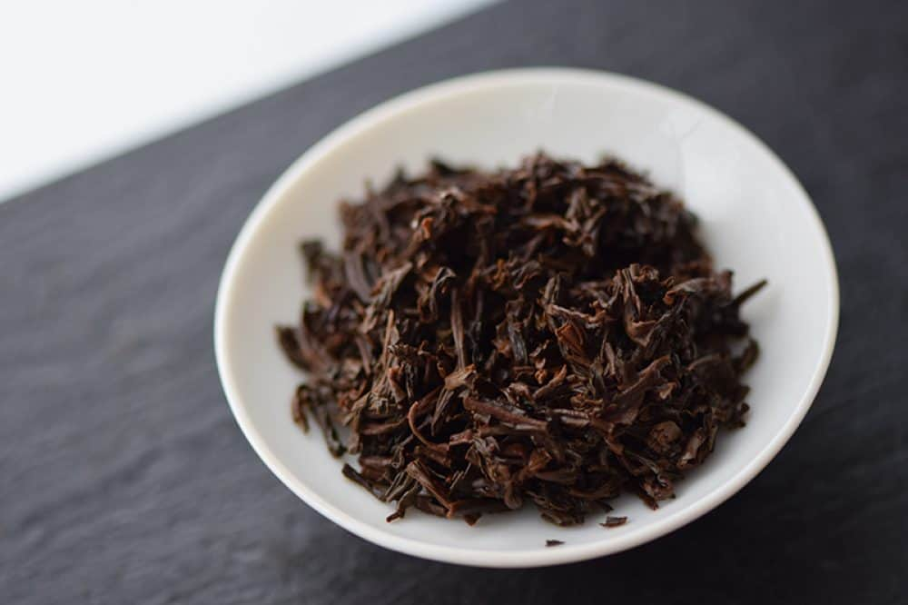 Lapsang Souchong Top Grade brewed leaves