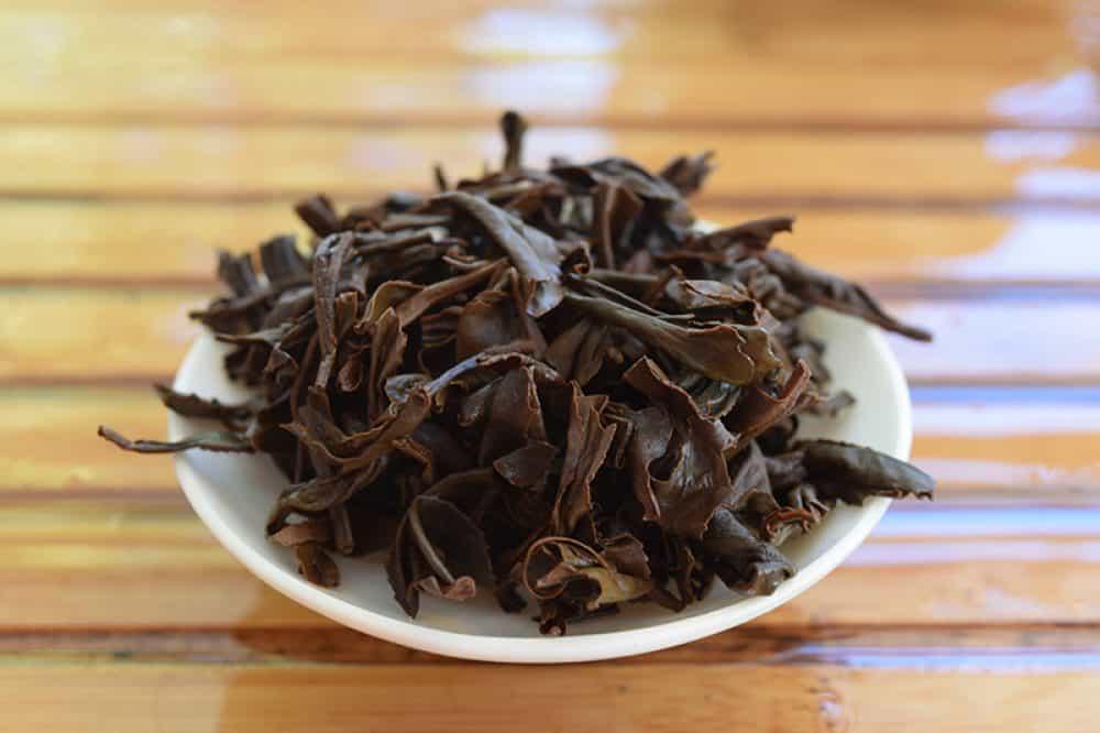 Guan Yin Hong Brewed leaves