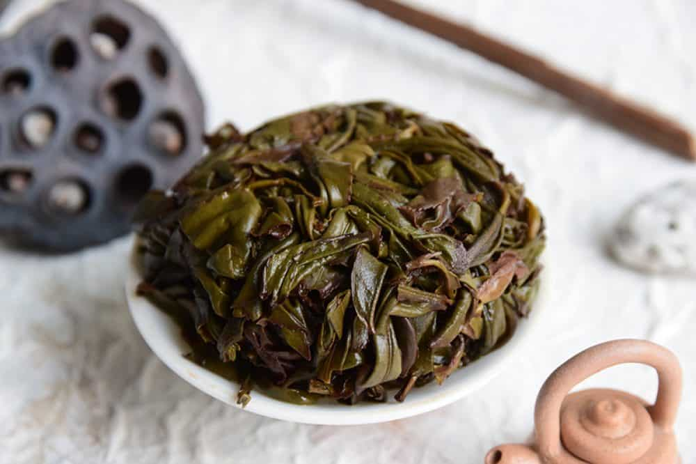 Tie Guan Yin Classic brewed leaves