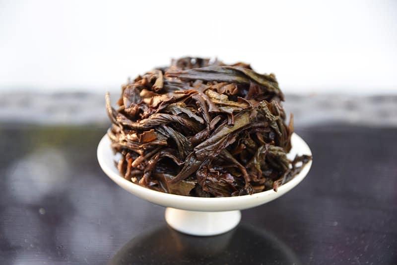 Shui Xian brewed leaves