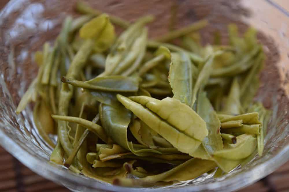 Anji Bai Cha brewed leaves