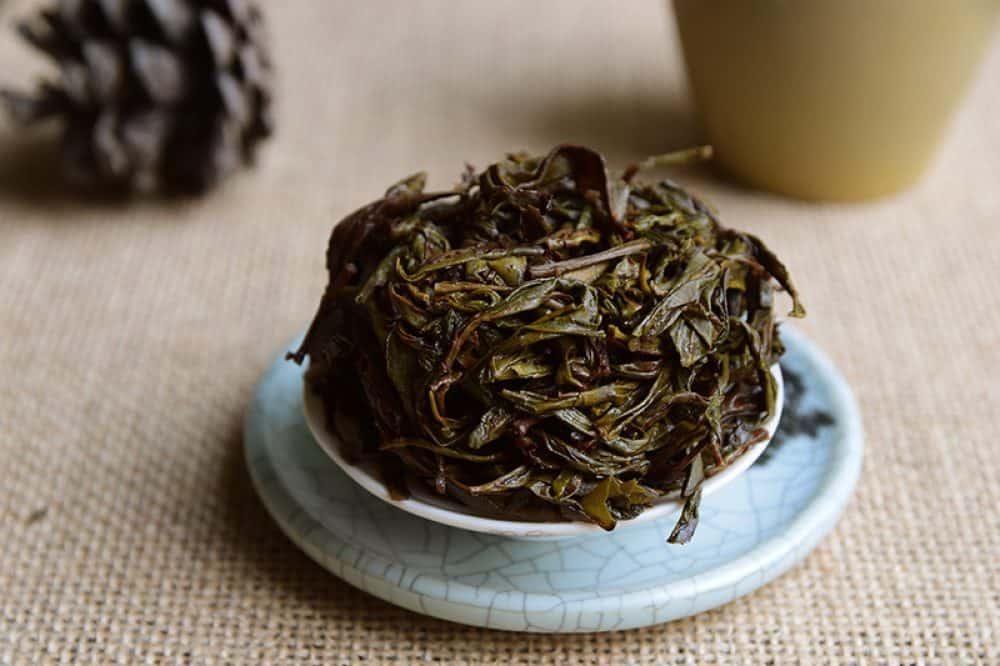 Biodynamic Tea Fenghuang Dan Cong Mi Lan Xiang Brewed leaves