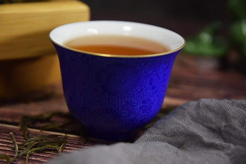 Tasting Cup - Etched blue