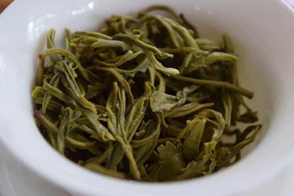 Huangshan Mao Feng brewed leaves