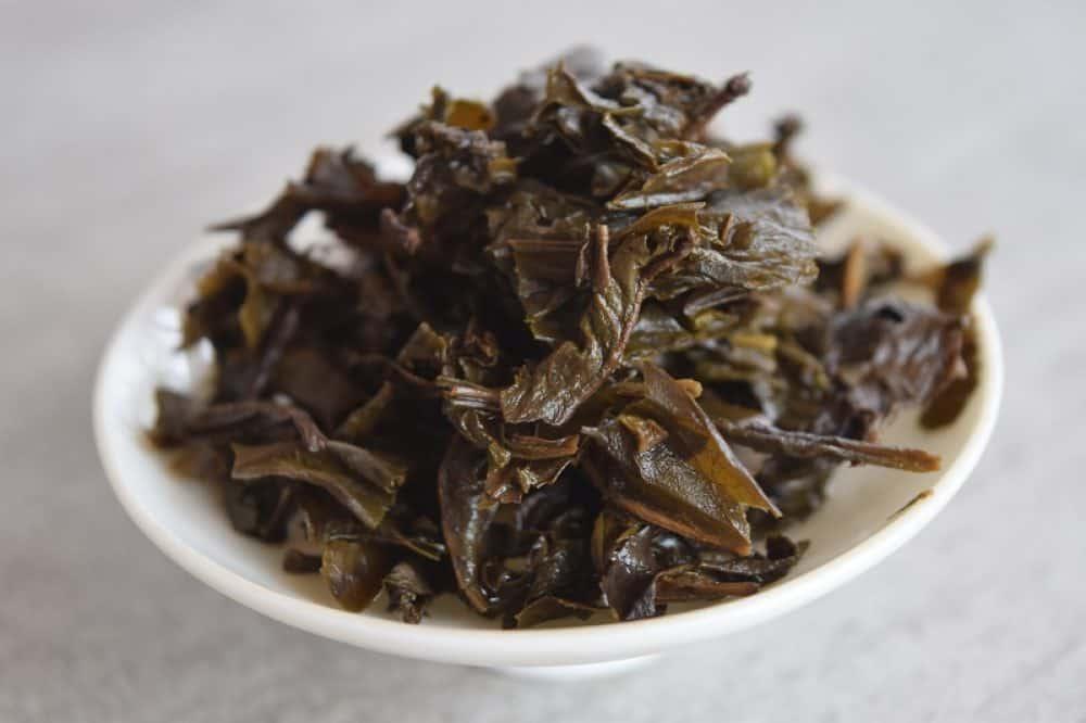 Qian Liang Cha cube brewed leaves