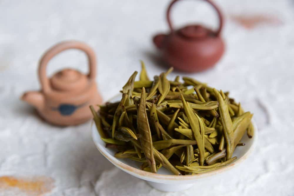 Meng Ding Huang Ya brewed leaves - hand made yellow tea