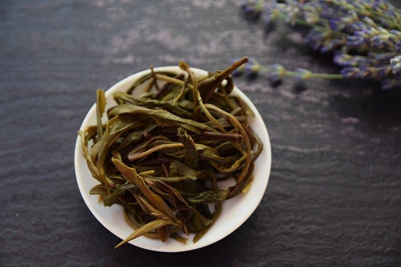 Da Ye Qing brewed leaves