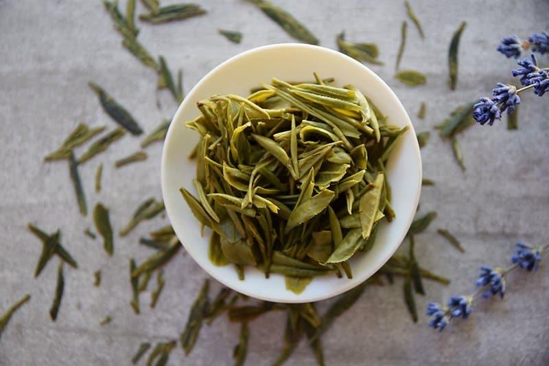 Ming Qian Not Long Jing brewed leaves